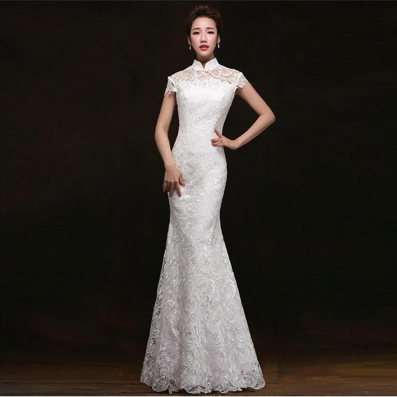 26acf2b5a1647 WL160 Fashion Purple Long Evening Dress Chinese Wedding Qipao Cheongsam  Women Lace Dresses Party Gown Traditional Robe Chinoise Qi Pao Unique Gowns  Womens ...