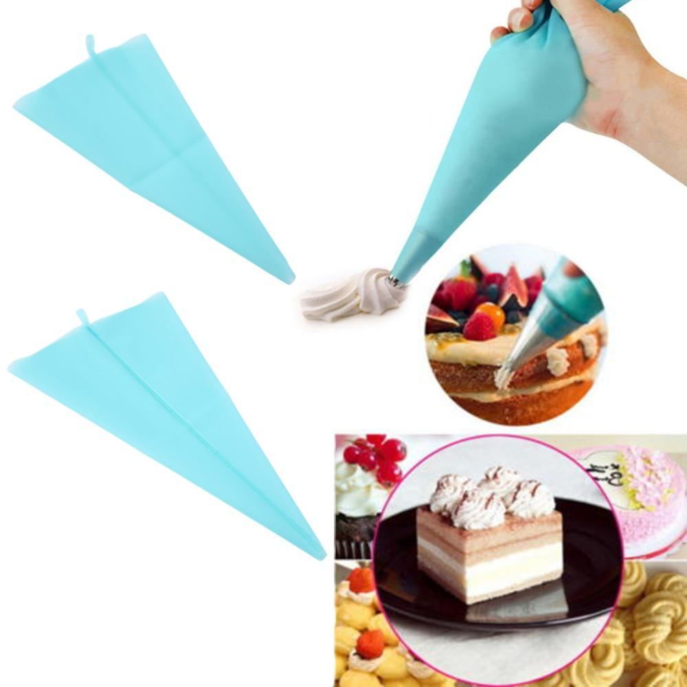 34cm 39cm Silicone Reusable Icing Piping Cream Pastry Bag Cake Decorating Tool Handmade DIY Dessert Baking Decorators New Hot