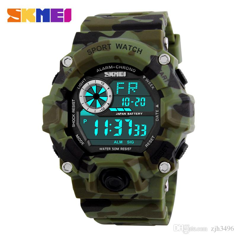 08b8c396e8ef Compre SKMEI Military Sports Watches Men Alarm 50M Reloj Impermeable ...