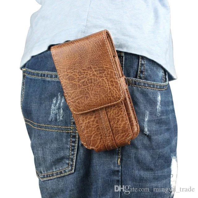 Outdoor Leather Pouch Belt Waist Bag Phone Case Cover For samsung galaxy s7 s8 j5 2016 a5 2017 Hook Holster 4.7'' to 6.3'