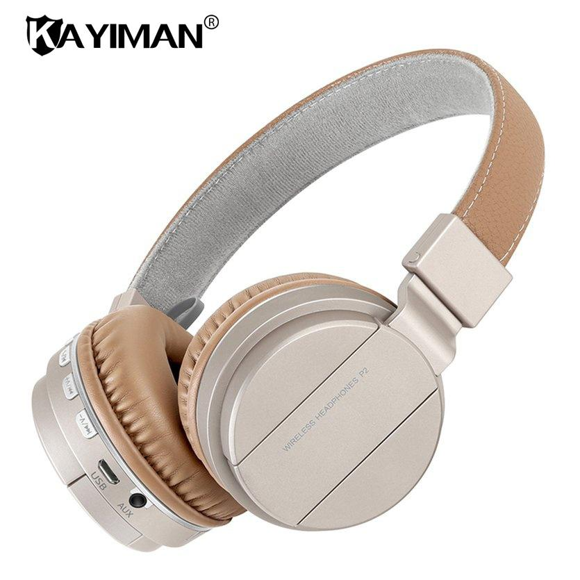 3093cdbc010 Bluetooth Stereo Headphone Wireless Folding Headphones Built In Mic TF MP3  FM Radio Powerful Bass Over Ear Headphones KAYIMAN Over The Ear Headphones  Sports ...