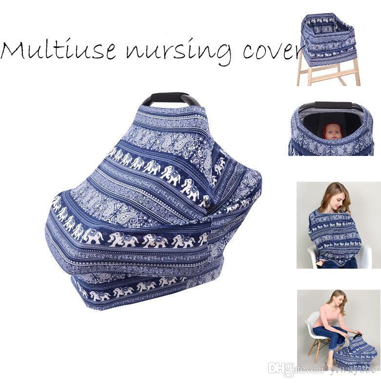 4in1 Mulheres Multifuncional lenços de Enfermagem Feminina bebê Tampa Do Carrinho de Compras Carseat Alta Tampa Da Cadeira Cachecol 100 estilos DHL frete grátis