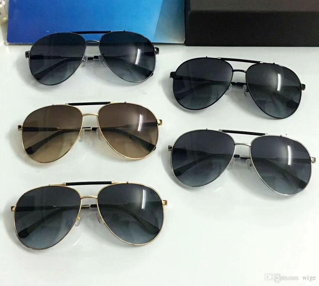 Gafas de sol piloto FT0605 para hombre Gold / Brown 2018 Sonnenbrille occhiali da sole Gafas de sol de diseñador Luxury Gafas de sol New wib box