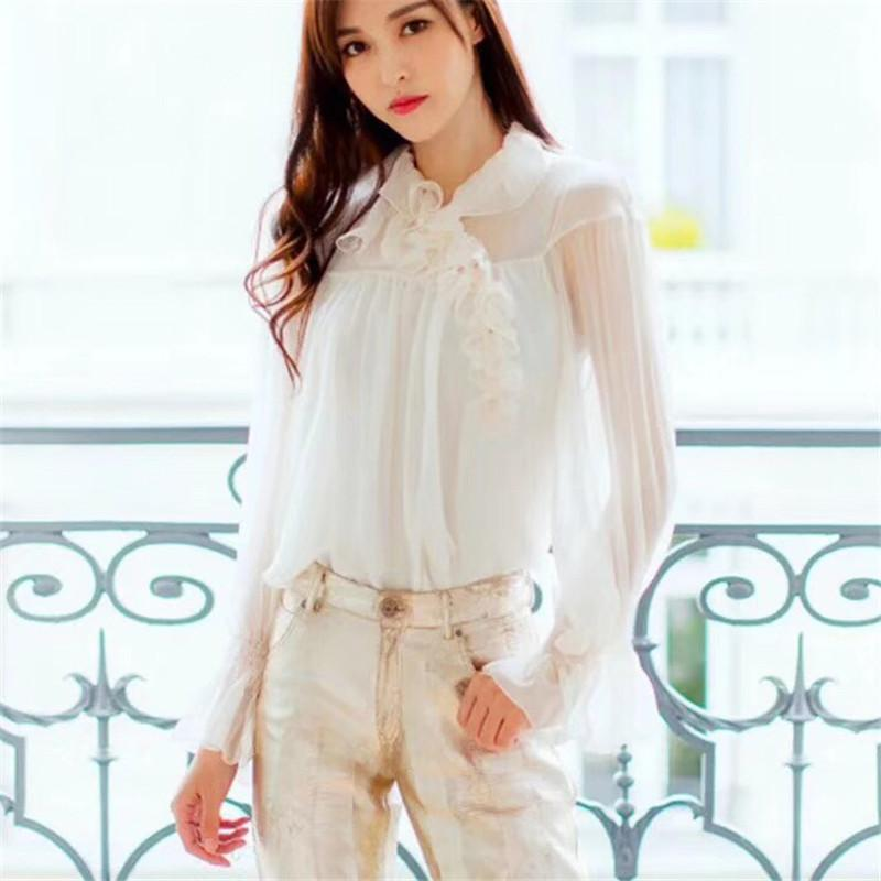3040fee05e6a 2019 Casual Blouses For Women Solid White Fashion High Quality Silk Shirts  For Summer 2018 New Long Sleeve Lady Blouses From Tayler, $201.52 |  DHgate.Com