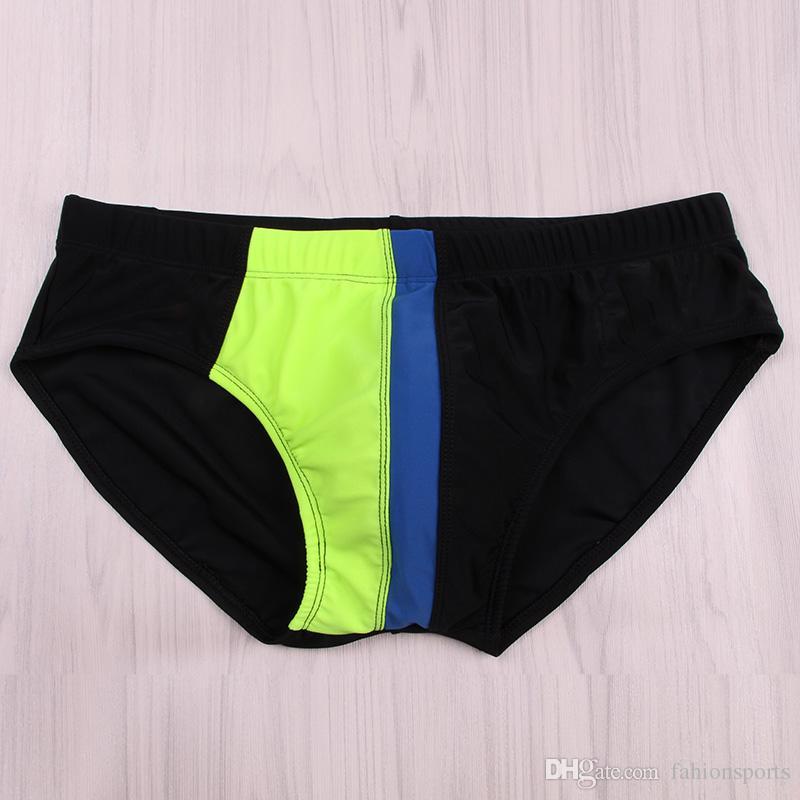 Nuevo traje de baño Push Up Pad Hombres Sexy Mens Swim Briefs Cintura baja bañador de natación Swimsuit Gay Mens Swimwear Swim Shorts