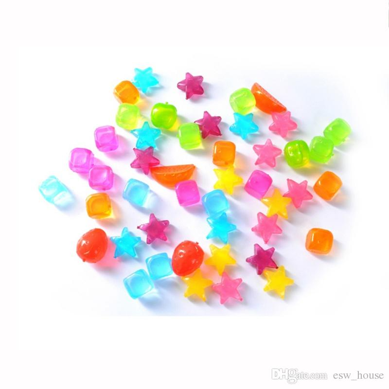 Ice Cubes Star fruit Square style fashion Plastic Reusable Ice Cube Cooling Kitchen Bar Party Tool Wholesale