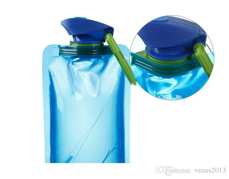 Folding portátil esportes ao ar livre garrafa ponto PE saco de proteção ambiental equitação copos de plástico frete grátis