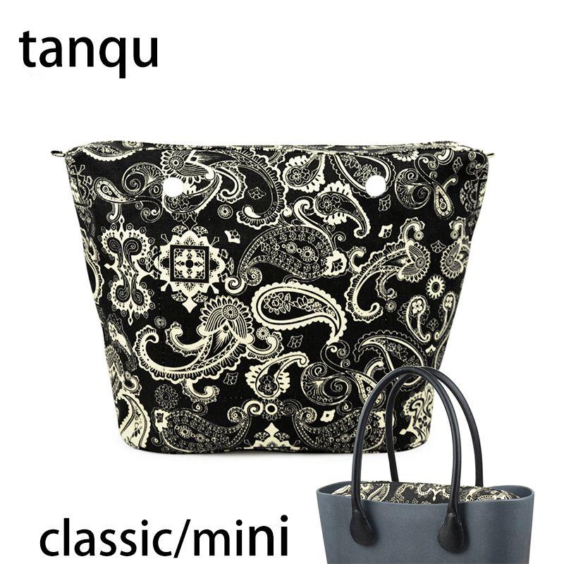 5f7a51b01 Compre Tanqu 2018 Nuevo Mini Bolsillo Clásico Con Cremallera Para Big Mini  Obag Impermeable Interior De Bolsillo Interior De Lona Floral Floral  Inserto Para ...