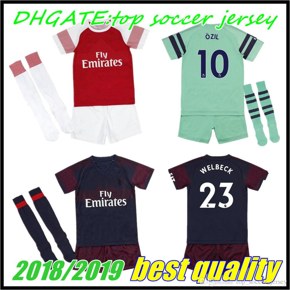 super popular 0c80c 95ef0 Arsenal KIDS AUBAMEYANG LACAZETTE soccer jersey home third LUCAS MKHITARYAN  2018 2019 OZIL XHAKA RAMSEY OZIL football away shirt 18 19 Child