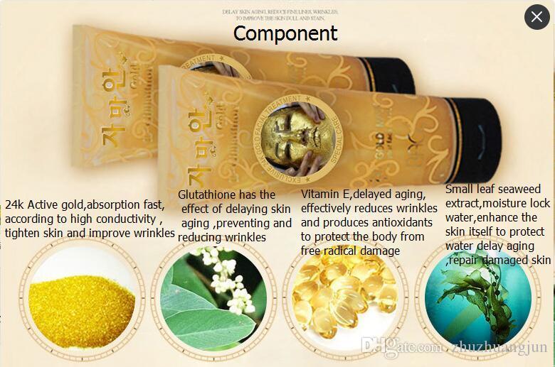 Hot Sales in Europe and America 220ml BACC brand Gold mask wash mask anti-wrinkle whitening tightness moisturizing tone skin