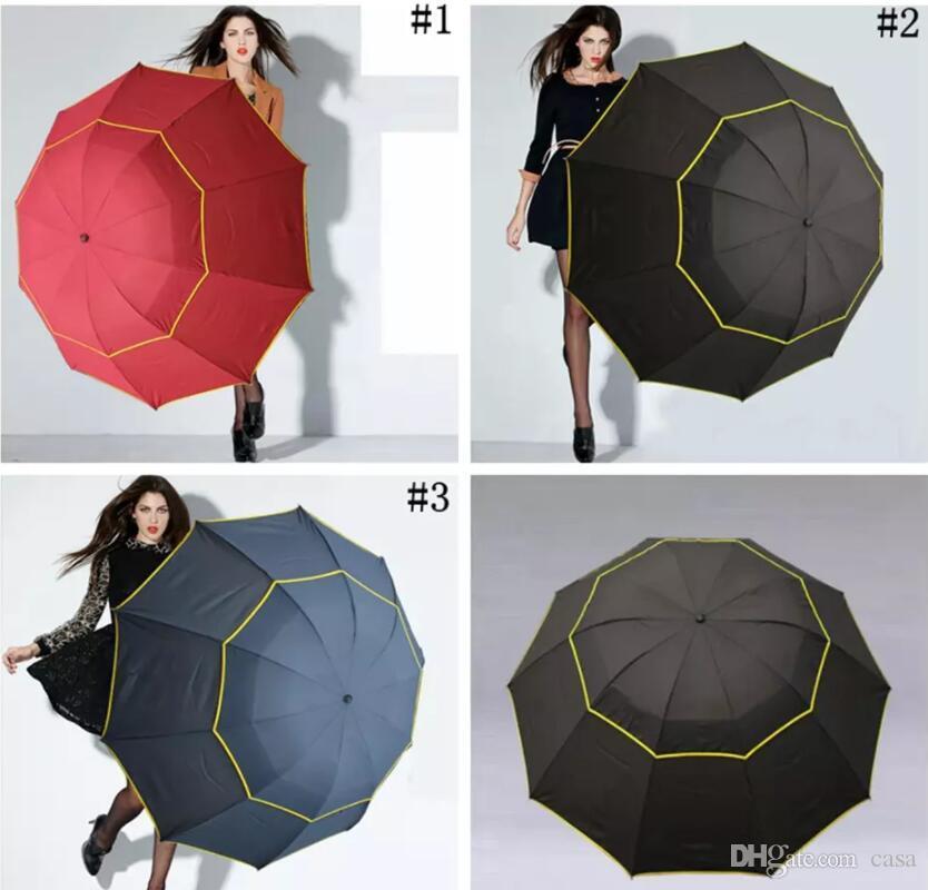 6019b2ea1726 Large Outdoor Umbrellas 130cm Big Umbrella Folding Umbrella Windproof Large  Paraguas Women Men 3 Floding Sun Rain Umbrellas 20pcs