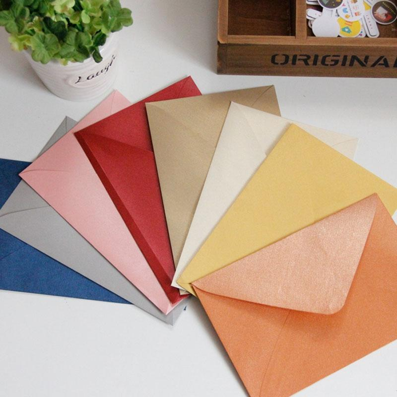 1711cm 120gsm Pearl Paper Envelopes Postcards Greeting Cards For VIP Wedding Party Invitation Card Birthday Design From