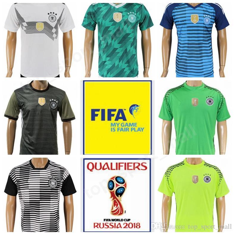 ebf937a60 2019 Germany 2018 World Cup Soccer Jersey Men 13 MULLER 7 SCHWEINSTEIGER  Football Shirt Kits 19 GOTZE 10 OZIL 11 REUS Goalkeeper 11 Marco Reus From  ...