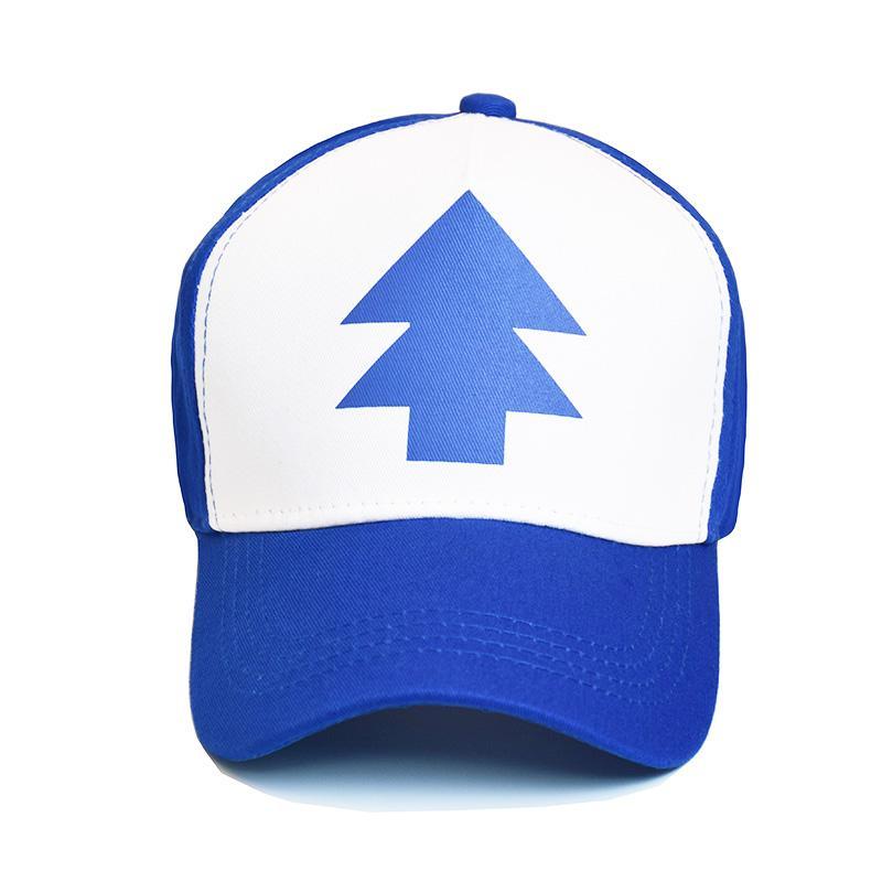 Fashion Gravity Falls Baseball Cap BLUE PINE TREE Hat Cartoon Trucker  Snapback Cap New Curved Bill Dipper Adult Men Dad Hat Mesh Hats Superman Cap  From ... 356299a9b7f0