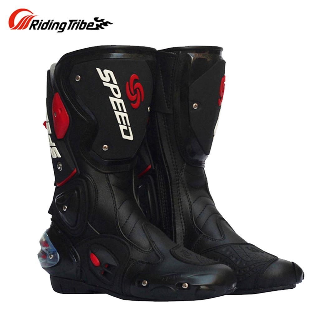 énorme réduction 8f357 350dd Bottes de moto Bottes motardes Motocross Botas Moto Motoqueiro B10173 Botte  Botas Para Moto Racing Hommes Chaussures