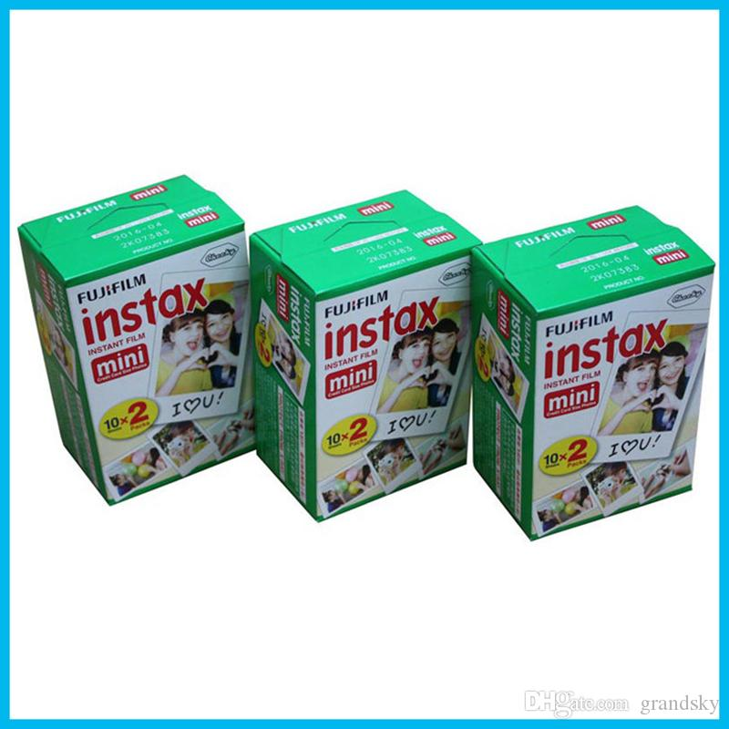 2018 High quality Instax White Film Intax For Mini 90 8 25 7S 50s Polaroid Instant Camera DHL free
