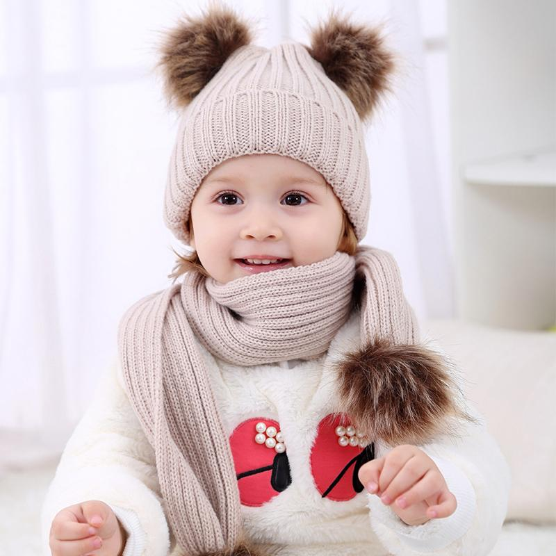 2017 Pom Children Winter Hat For Girls Hat Knitted Beanies Cap Brand New  Thick Baby Cap Baby Girl Winter Warm UK 2019 From Bradle 6bc85ee4cb0