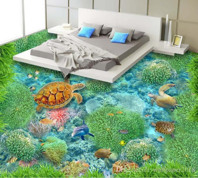 Grosshandel Boden Tapete Fur Kinderzimmer Unterwasserwelt 3d Boden