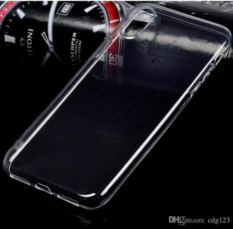 Für iPhone XS Max XR Note9 S9 + Kristallklares Weiches Silikon Transparent TPU Hülle für iPhone X 8 7 6 6S Plus Samsung S9 S8 Hinweis 9 8
