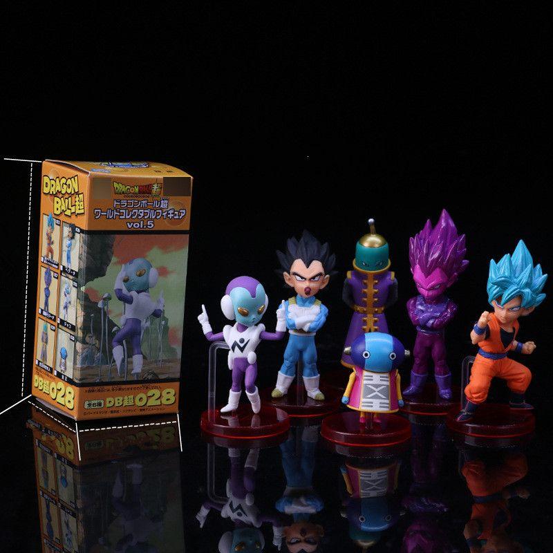Dragon Ball Super vol 5 Son Goku Vegeta Zen o Jaco PVC Figures Collectible  Model Toys 6pcs/set 5~9cm