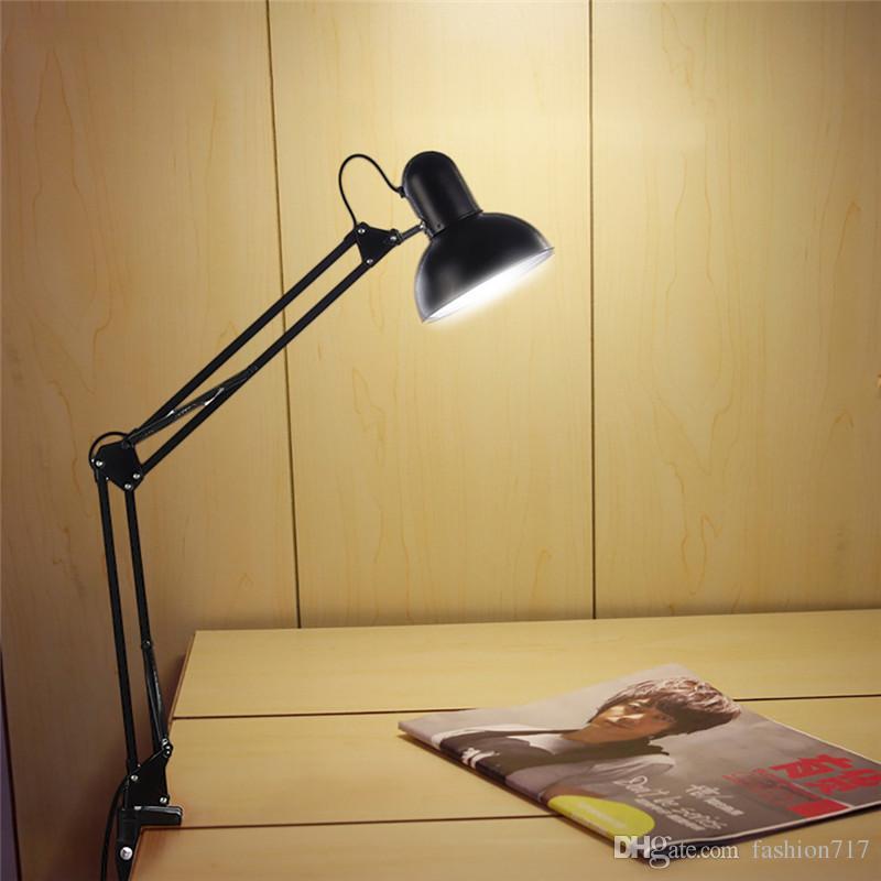 Superieur Adjustable Clip Table Lights Bedside Desktop Table Lamp Bedroom Black Desk  Lamps Office Light Libraly Porch Industrial Lighting Adjustable Clip Table  Lights ...