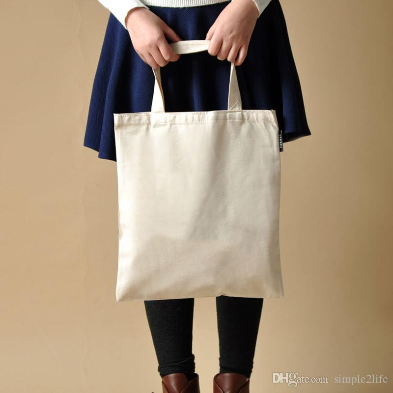 9603d69af 2019 Custom Blank Pattern Canvas Shopping Bags Eco Reusable Foldable  Shoulder Bag Handbag Tote Cotton Tote Bag Wholesale Custom From  Simple2life, ...