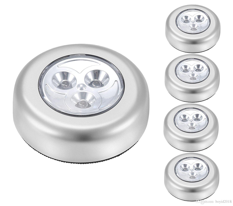 Led Batteriebetriebenes Kabelloses Nachtlicht Stick Tap Touch Lampe Zum Aufkleben Für Wandschränke Schränke Usw Batterien Nicht Einschließen