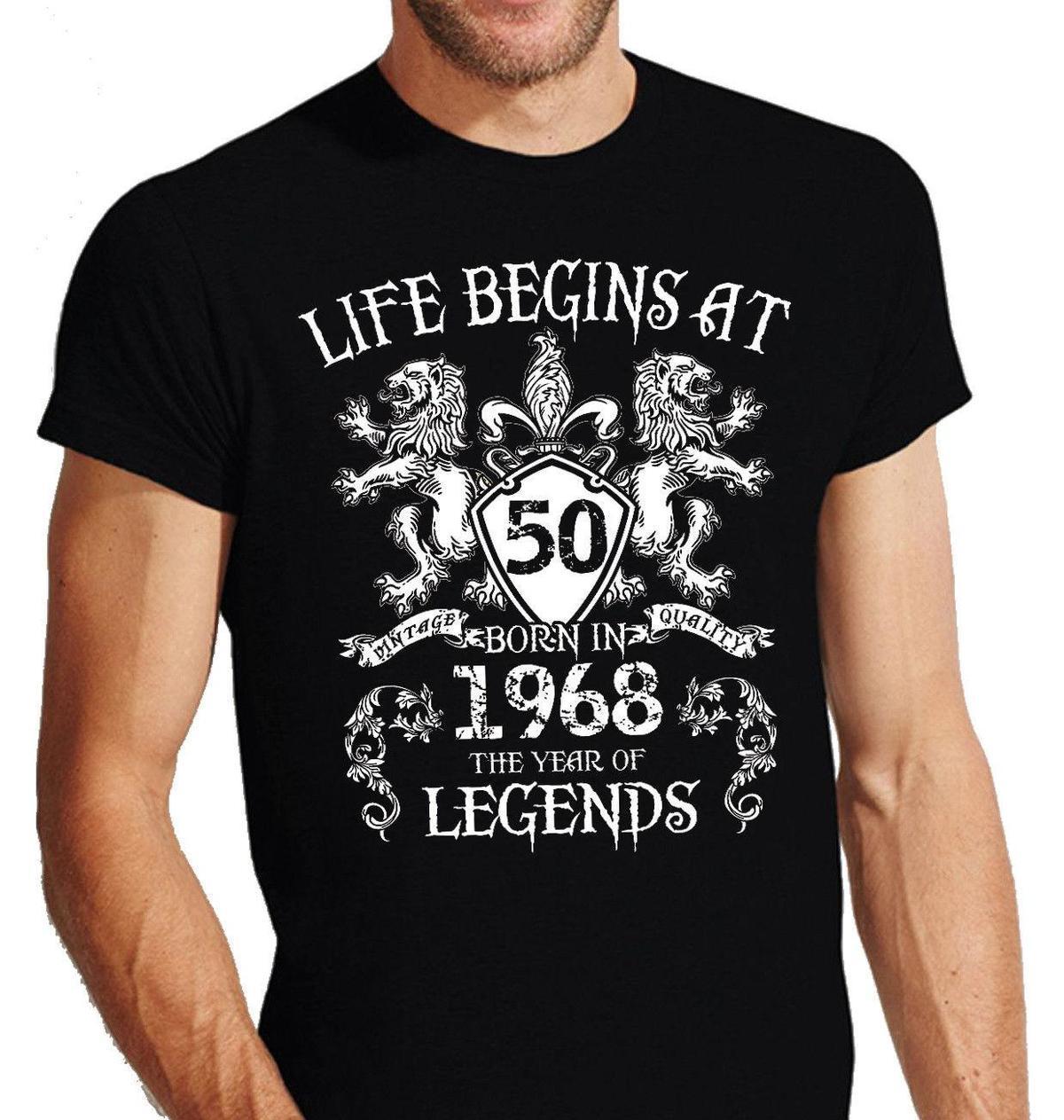 Crest Wappen T Shirt 50 Geburtstag 68 1968 50 Jahre Funfzig Birthday