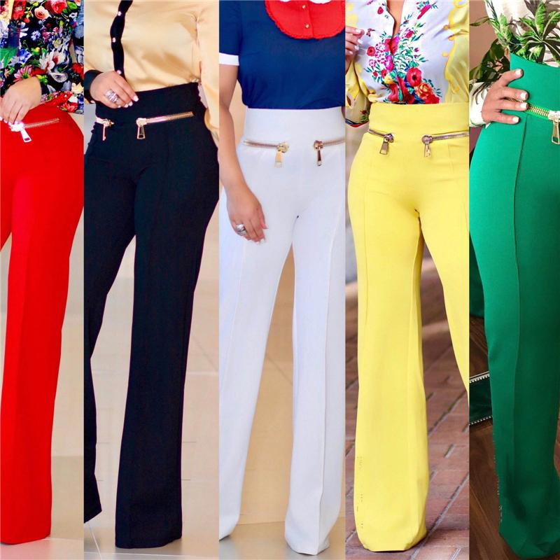 2027d3e2e52 2019 Autumn Winter Women S Wide Leg Pants Fashion High Waist Plus Size XXL  Women Pants 5 Solid Colors Female Trousers Formal Work From Edwiin04