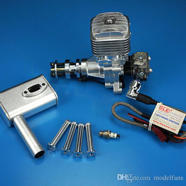 DLE 30 RC model gasoline engine DLE30 single cylinder two-stroke side  exhaust natural wind-cooled hand start 30CC displacement