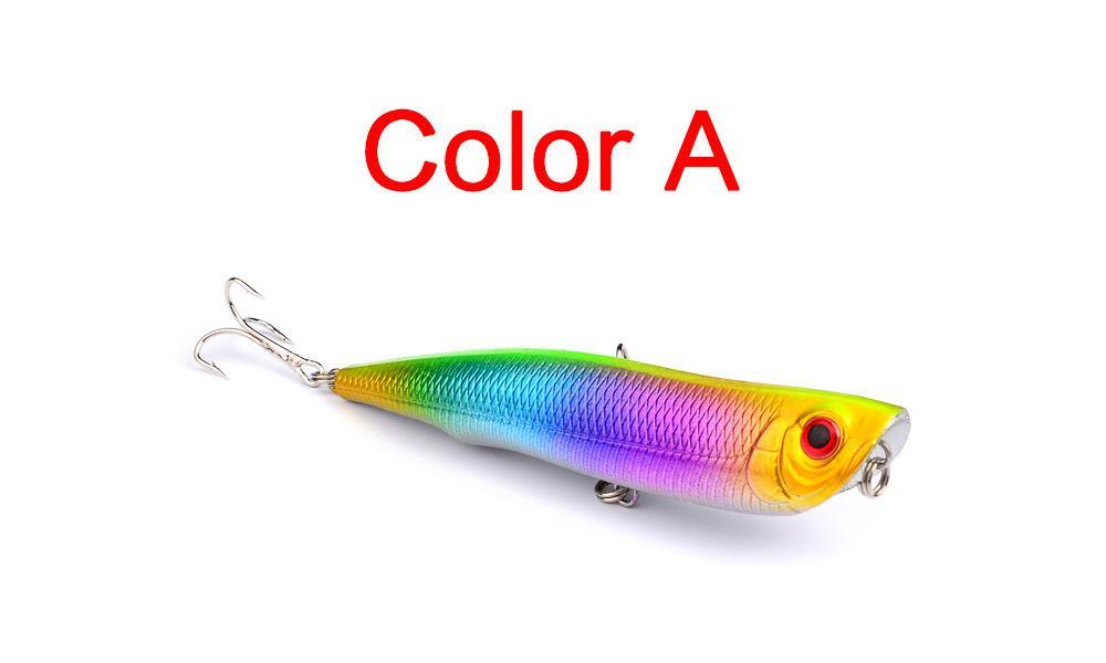 Topwater Schwimmen Kunststoff Popper Alice Blackfish locken 10,5 cm 15,7g Wobbler tauchen kurve Künstliche Fischköder haken