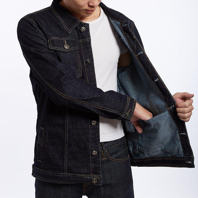 9105bf5f0a5a Plus Size M 8XL Brand Designer Jacket Coat Denim Luxury Mens Jackets Spring  Men Clothing Cowboy Coats Black Denim Jacket Faux Leather Jacket With Fur  White ...