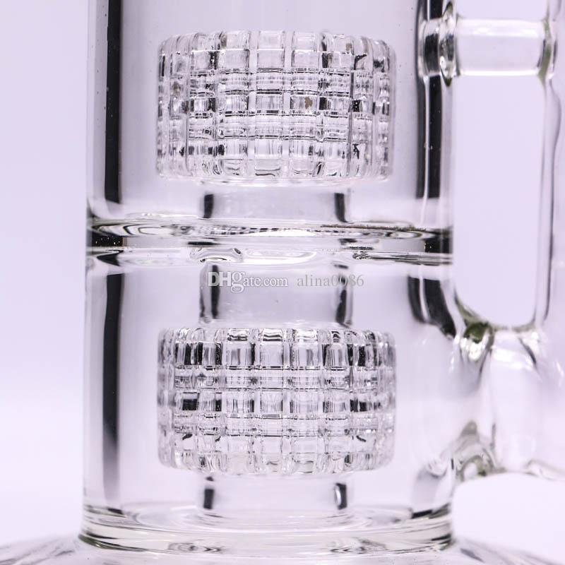 Стекло Бонг вихревые бонги двойные клетки перколятор стеклянная труба Dab буровой вышки Mobius Матрица sidecar Wate бонги барботер