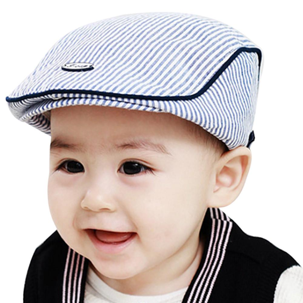 115a24f5c1cf Lindos Baby Berets Infant Boy Girl Stripe Beret Cap Colores del caramelo  enarboló el sombrero de béisbol s Beisbol Mujer # 7919