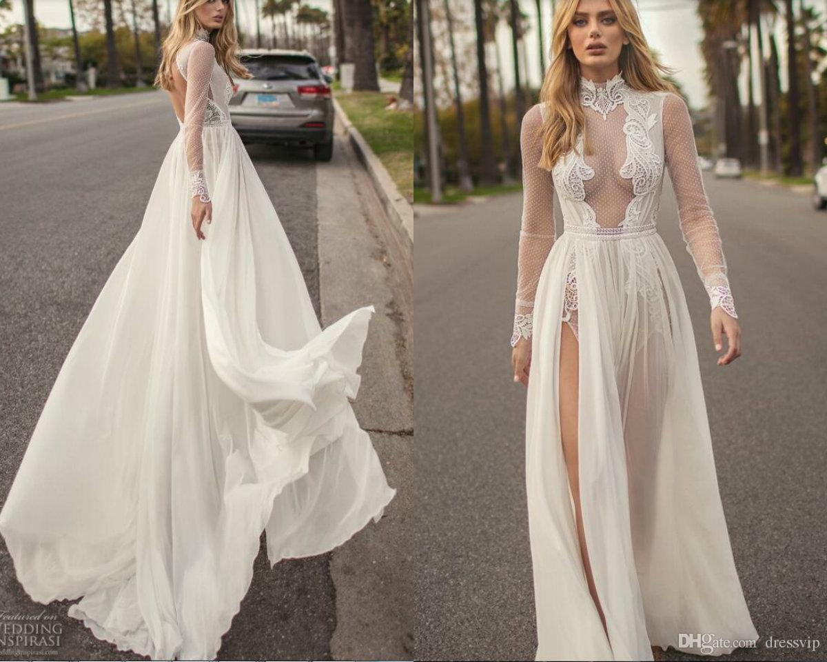 Discount muse by berta bohemian wedding dresses a line lace