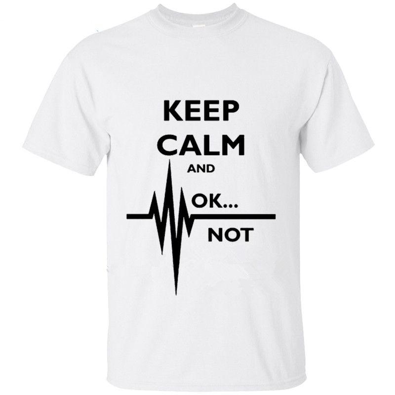 cb5c3d43 Personality Classic Cotton Men Keep Calm Ok Not That Calm Paramedic T Shirt  Uniform Rendering Hip T Shirt