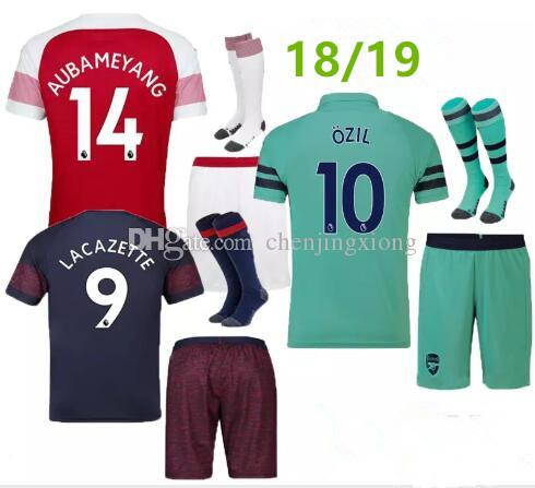 2019 18 19 Arsenal Adult Kit Soccer Jersey AUBAMEYANG LACAZETTE SHORTS SOCKS  Home 10 OZIL MKHITARYAN 2018 XHAKA RAMSEY Away THIRD Football Shir From ... 4e191ce4d