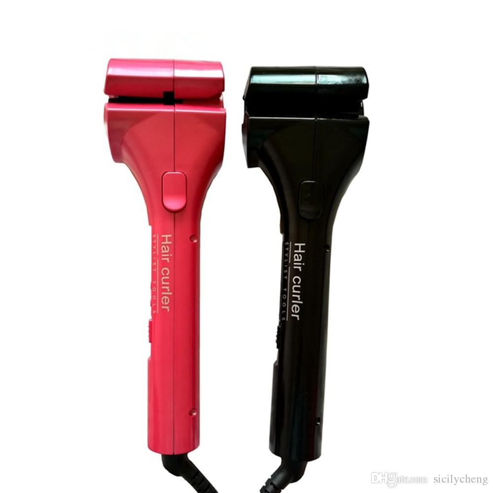Wholesale high Quality Automatic Portable Hair Curler LCD Display Hair Care Styling Tools Heating Iron Stick Ceramic Magic Hair Curling Wand