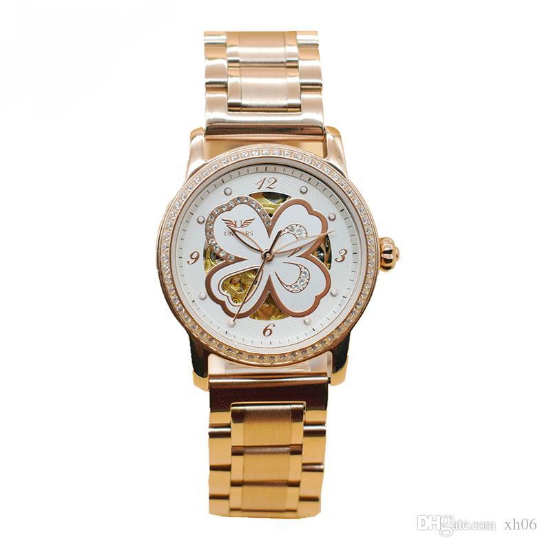 e6f99280ad85 Compre AAA Reloj De Lujo Para Las Mujeres Noctilucentes Moda Correa De Acero  Inoxidable Pareja Automática Relojes Hombres Reloj De La Marca Suiza A   50.77 ...