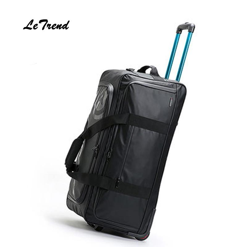 9bd60c1916ca Letrend New Fashion 30 inch High-capacity Rolling Luggage Set Business  Travel Bag Checked luggage Trolley Men Trunk Suitcase