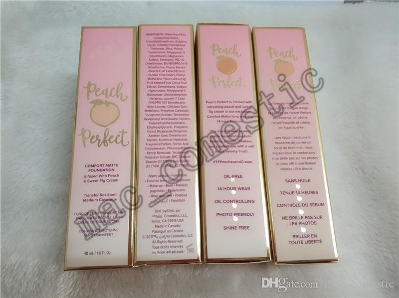 Peach Perfect comfort Matte Foundation 복숭아 달콤한 무화과 크림 48ml 3 색 이용 가능