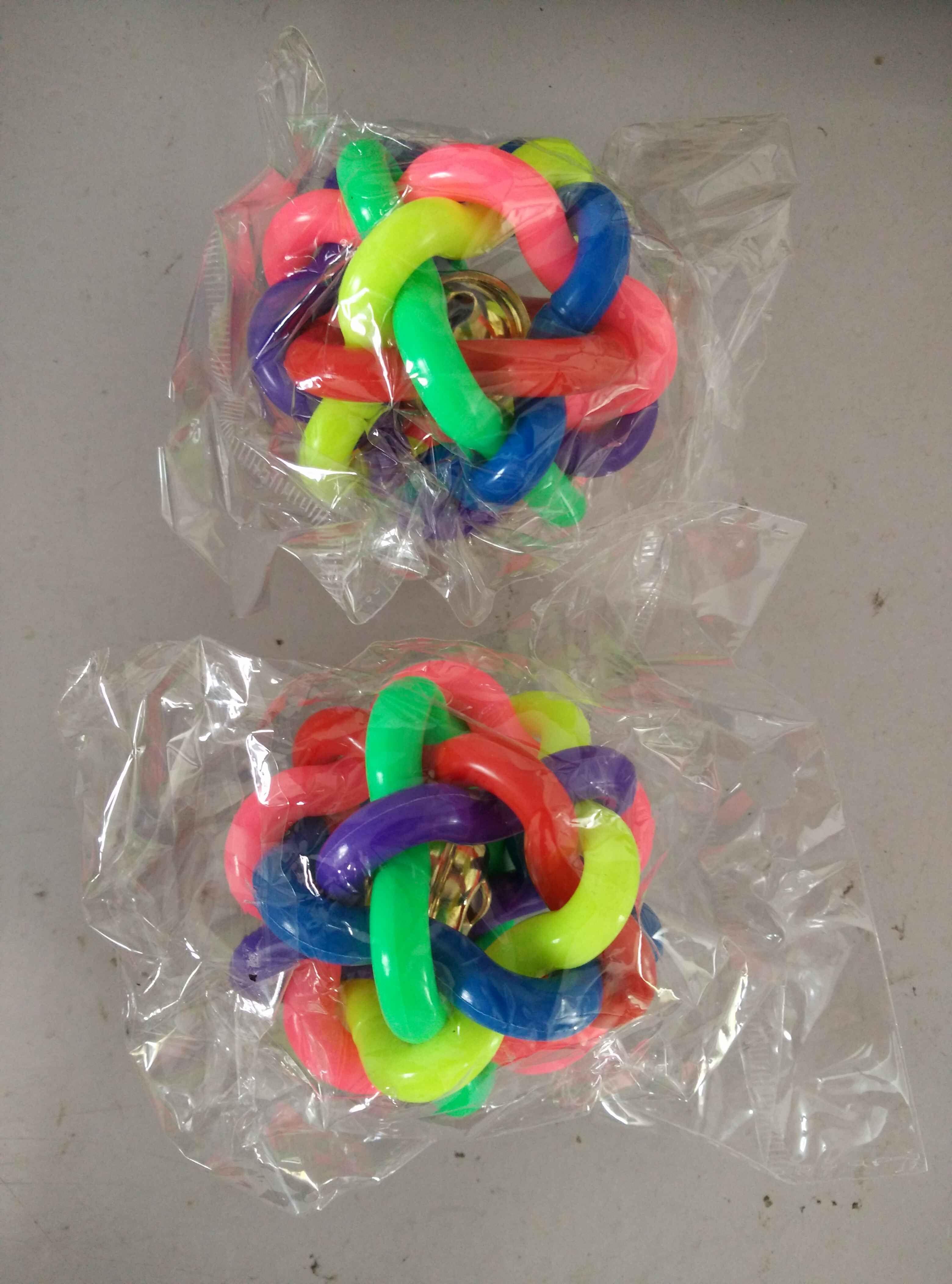 HOT chat coloré animal jouets balle élastique mâcher chien jouet animal balle son jouets éducatifs mini-arc-en-caoutchouc balle pour petit moyen grand chien mignon