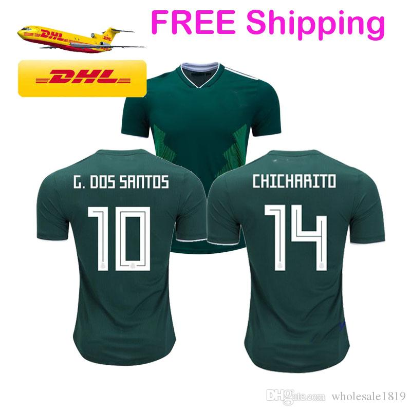 Wholesale Cheap Top Quality Mexico Jersey 2018 World Cup Player version  Football Kit Shirt Soccer Shirts Dropshipping ok