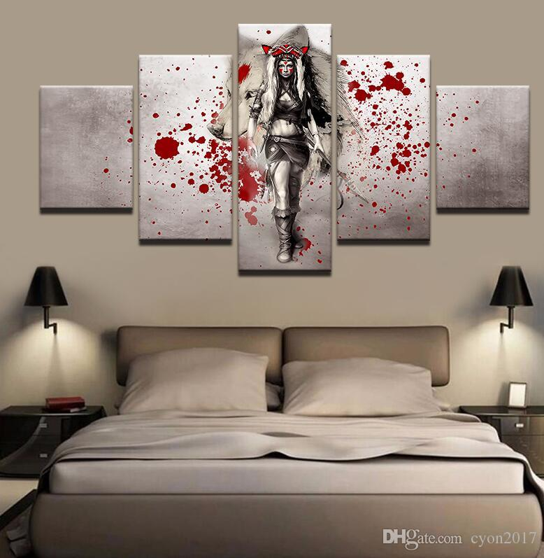 Modern Canvas Pictures Living Room Wall Art Animal Cat Wolf Dog Poster Husky Meow Star Painting Printed Home Decor Frame a026