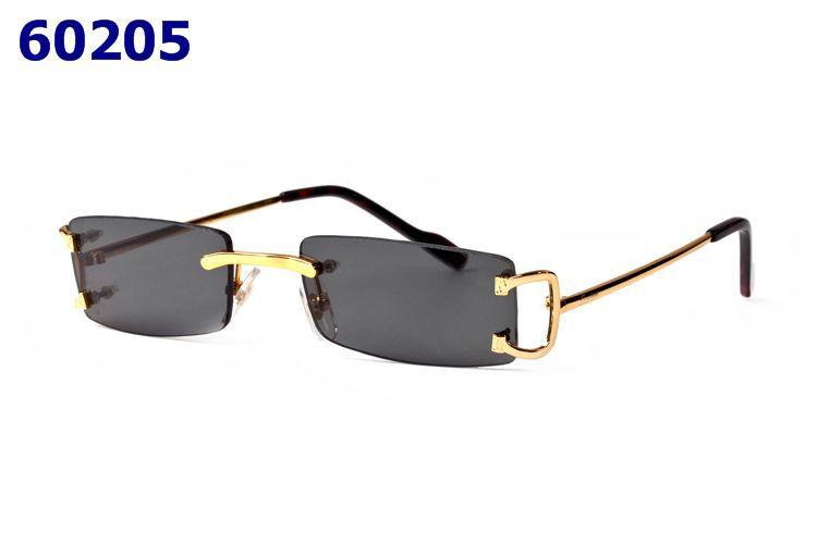 c540225857 Fashion Luxury Gold Metal Designer Buffalo Horn Sunglasses Men Women Rimless  Colorful Lens Glasses Lunettes Gafas Glasses Online Polarized Sunglasses  From ...