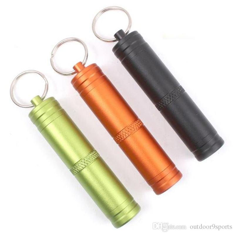 New Outdoor Camping Mini Waterproof Small Pot Carry Aluminum Bottle Seal Emergency Pill Bottle Portable Key Chain EDC Cans