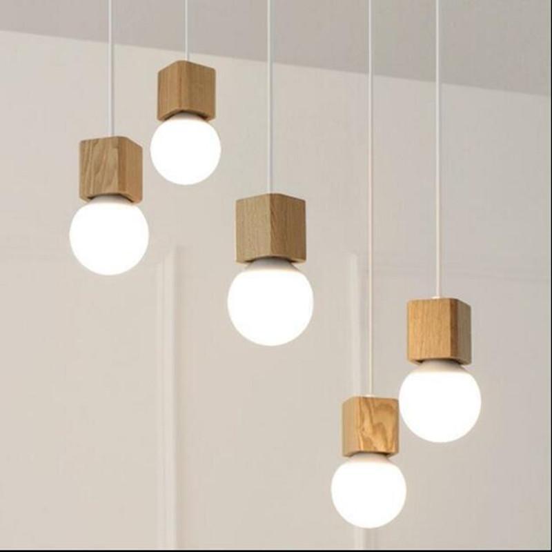Grosshandel Vintage Pendelleuchte Holz Fassung Moderne Lampe