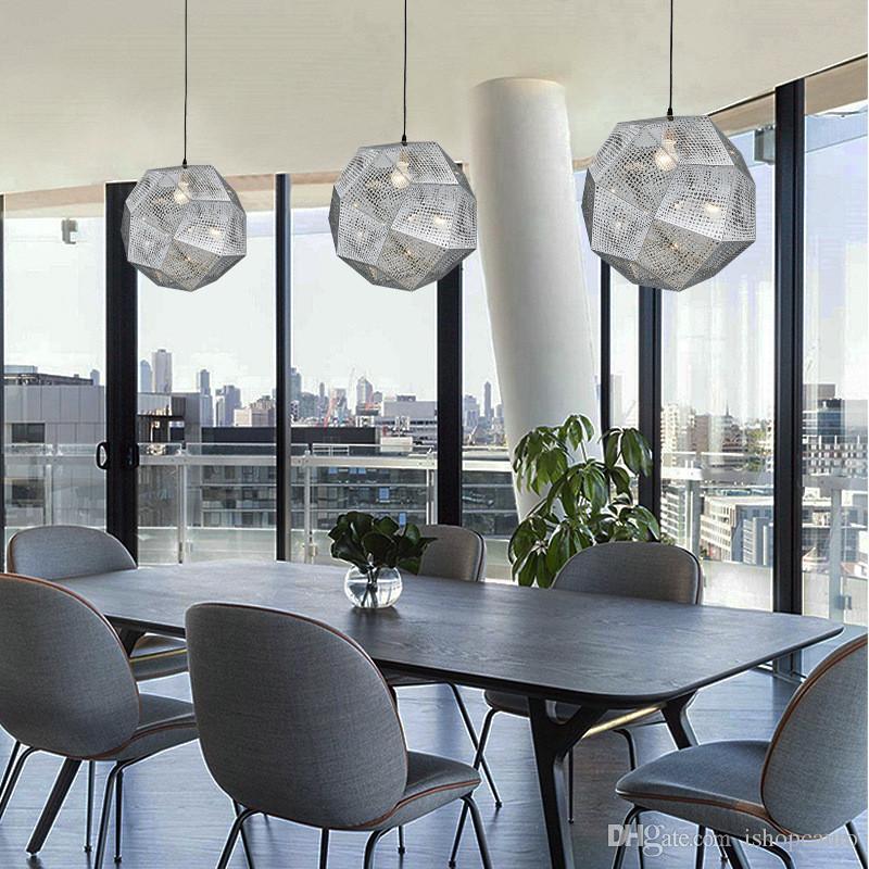 Multi-ball stainless steel LED Pendant lights Metal geometric pendant lamp lighting restaurant bedroom staircase