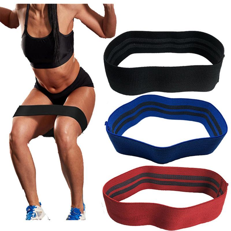 2019 Non Slip Hip Circle Loop Resistance Bands Workout Exercise Legs