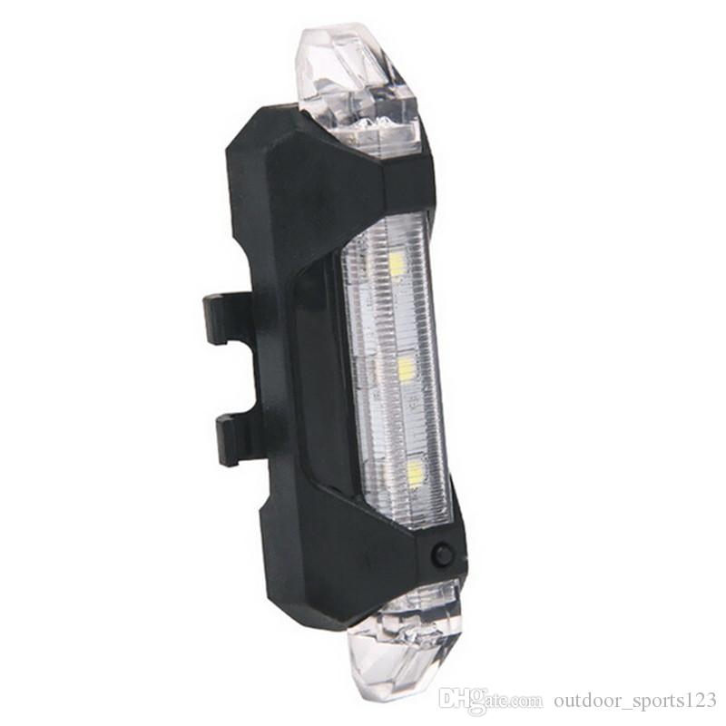 Portable 5 LED USB MTB Road Bike Tail Light Rechargeable Safety Warning Bicycle Rear Light Lamp Cycling Bike light